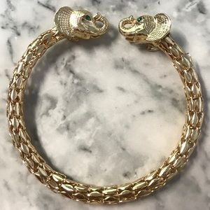 New lilly pulitzer gold elephant bracelet bangle